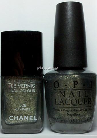Chanel Graphite vs OPI Number One Nemesis