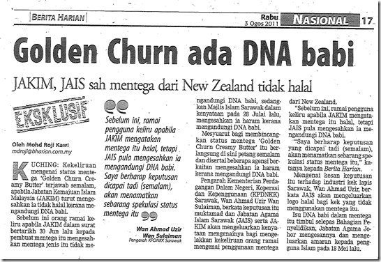 Golden Churn DNA Babi