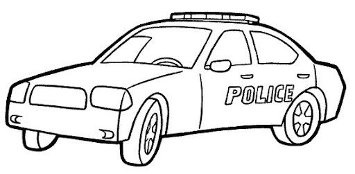 CARRO DE POLICIA para colorear - Imagui