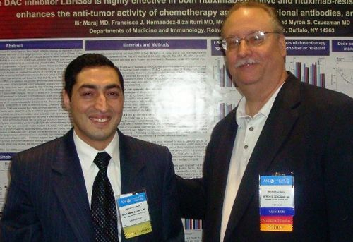 Mohammad Muhsin Chisti (with Myron Czuczman, MD) presented his research at the American Society of Clinical Oncology in Orlando (June 2009).