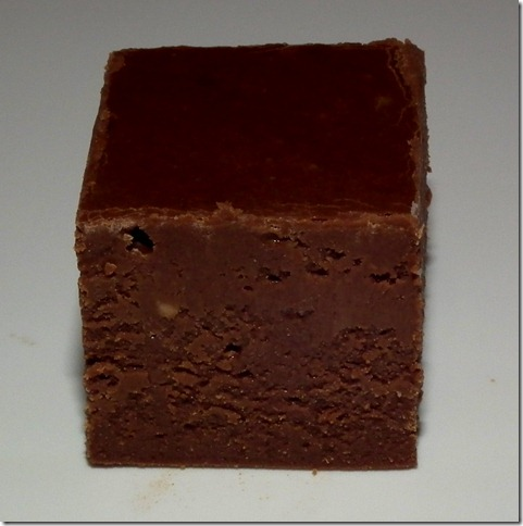 Fudge with homemade sweetened condensed milk