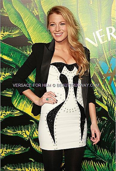Versace H&M New York Runway Show Donatella Versace Blake Lively