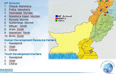 Location Hashoo Foundation Schools Pakistan