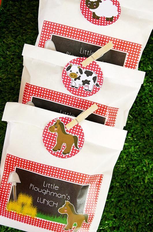 Barnyard Birthday- Ploughman's Sandwich Bags