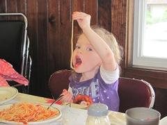 Pa Raffas 7.125.2013 Bellz eating spagetti2
