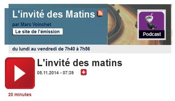 Invité de France Culture