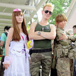 street fighter guile cosplay at Comiket 84 - Tokyo Big Sight in Japan in Tokyo, Tokyo, Japan