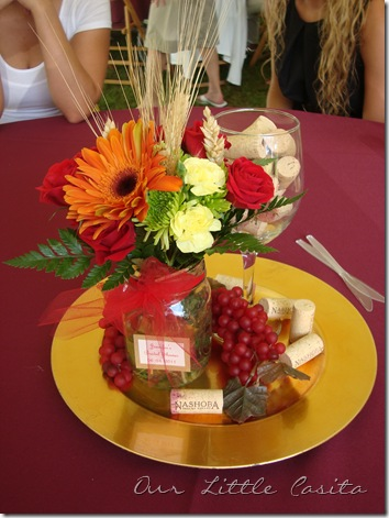 Our little casita wine themed poems for a bridal shower for Wine centerpiece ideas