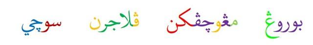 Suport penulisan arab jawi dan parsi
