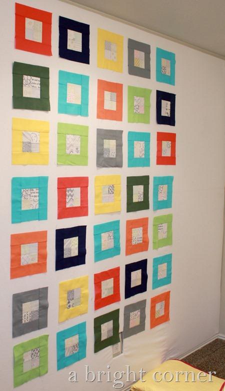 Bright squares quilt idea