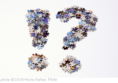 'Punctuation marks made of puzzle pieces' photo (c) 2008, Horia Varlan - license: http://creativecommons.org/licenses/by/2.0/