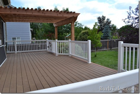 New composite deck and cedar pergola!
