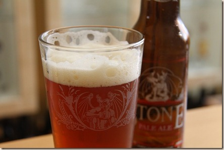 Stone Pale Ale glass front