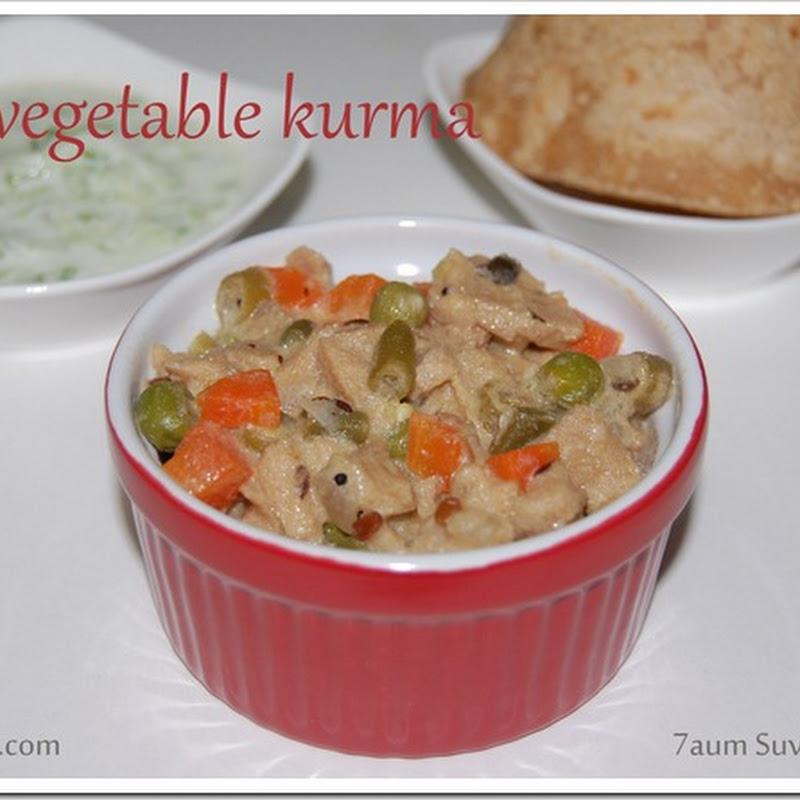 Soya vegetable kurma