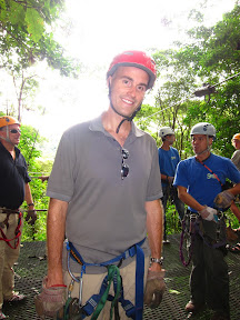Erik suited up and ready to zipline!