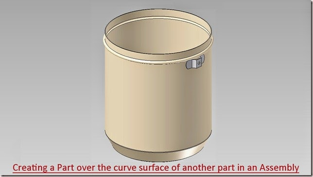 Creating a Part over the curve surface of another part