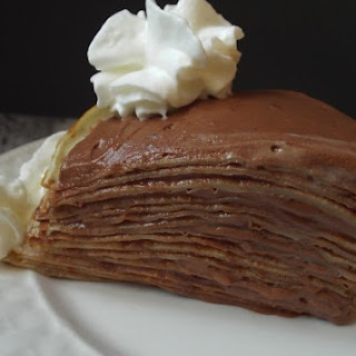 Crepe Cake with Chocolate-Rum Mousse