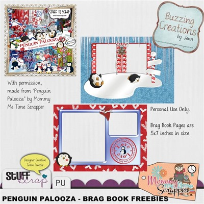 Mommy Me Time Scrapper - Penguin Palooza - Brag Book Freebies Preview
