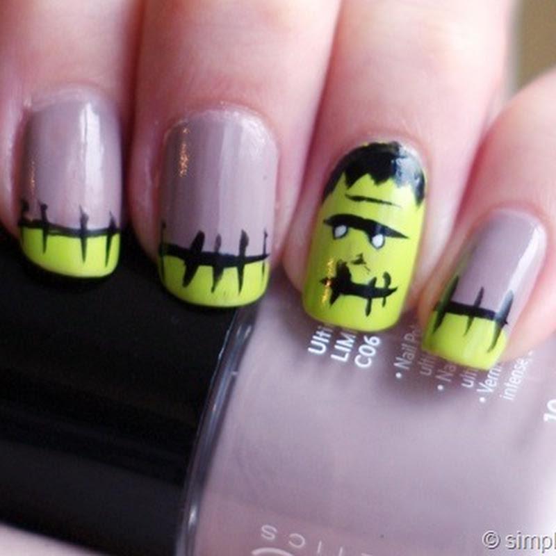 Halloween Nails: Frankenstein