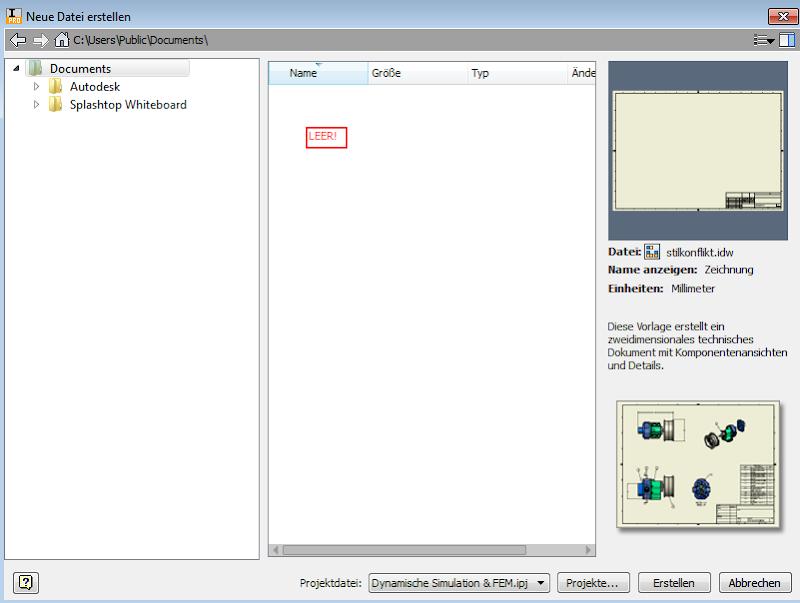 Autodesk Inventor FAQ: Inventor: Vorlagefenster ist leer - wo sind ...