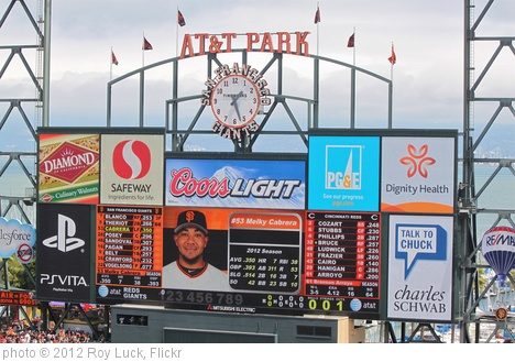 'Batting 3rd for the Giants, LF Melky Cabrera' photo (c) 2012, Roy Luck - license: http://creativecommons.org/licenses/by/2.0/