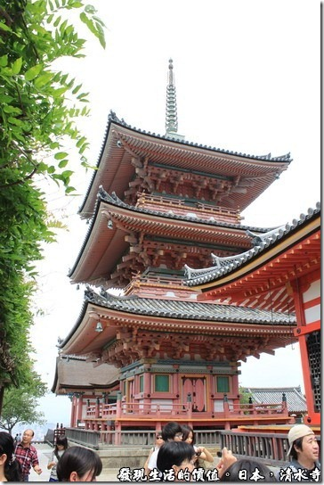 日本京都府-清水寺,三重塔