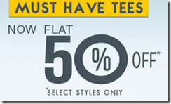 Basiclife: Get flat 50% off on selected T shirts