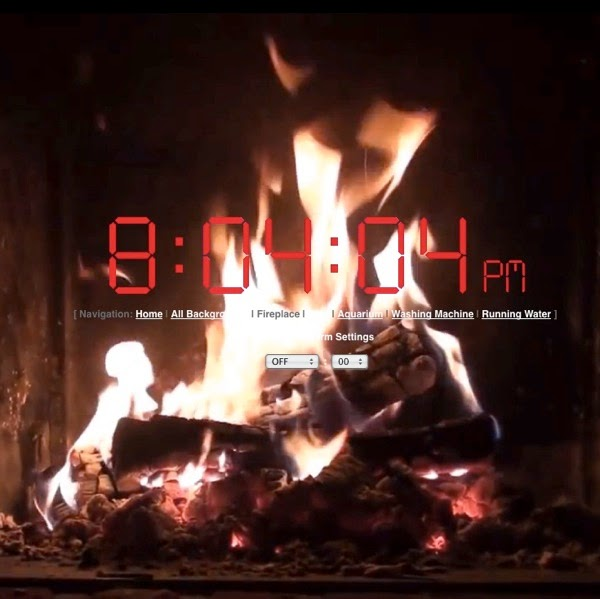 Clock over a fireplace video