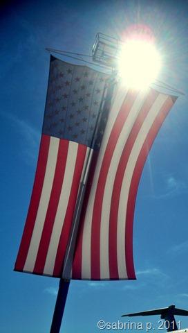sun flare flag