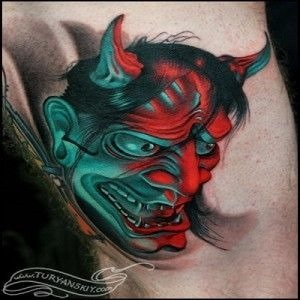 japanese masks tattoo