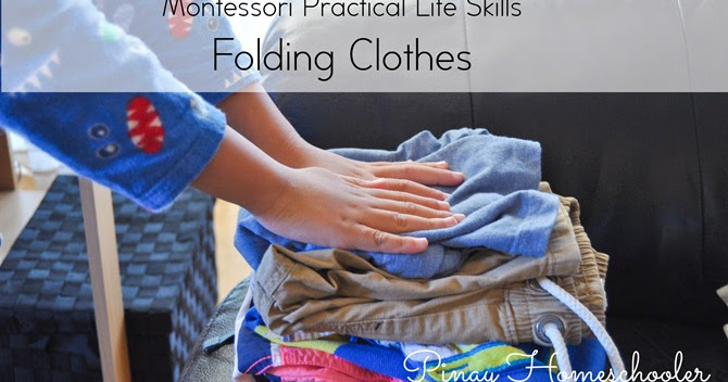 montessori practical life  folding clothes
