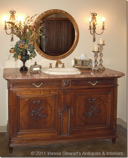 Antique Louis XVI Buffet Sink Conversion