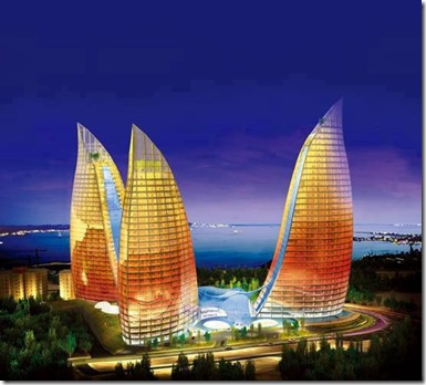 Flame Tower, Baku Azerbaijan