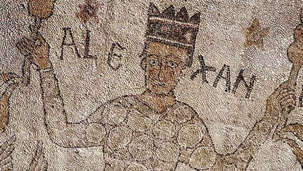 Alexandre com as vestes persas