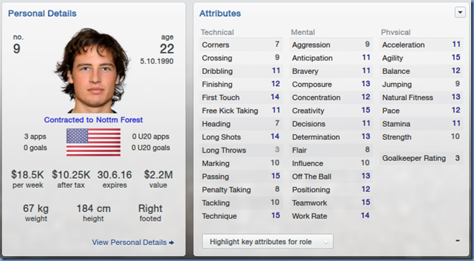 Mikkel Diskerud in Football Manager 2013