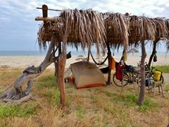Camping on the beach near Zorritos, Peru.