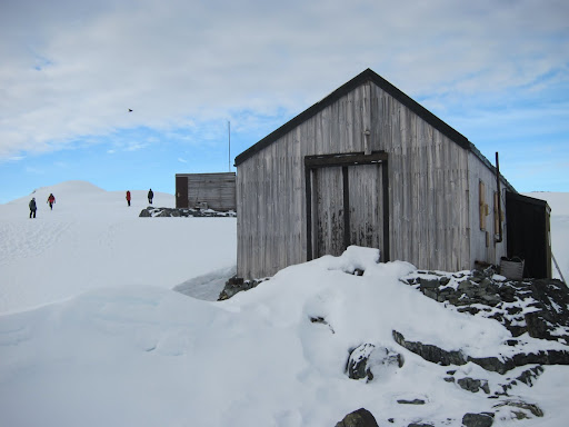 The abandoned British research station on Detaille Island.