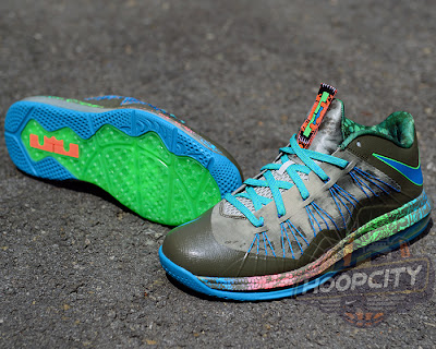 nike lebron 10 low gr black turquoise blue 1 01 Surprise, Surprise... Nike Air Max LeBron X Low Tarp Green