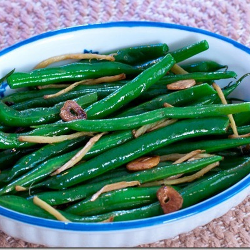 Gingered green beans with garlic