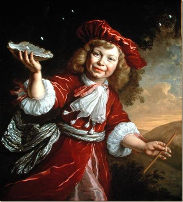 Bartolomeo Van der Helst, Enfant avec un coquillage