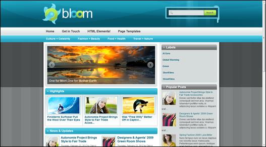 Bloom Magazin Teması