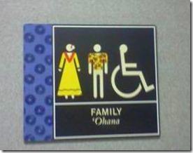 hawaii bathroom signs