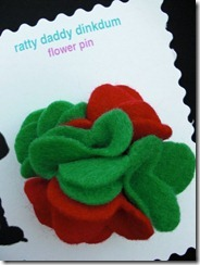 Christmas Felt Flower Pin