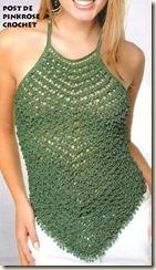 Blusa Frente Unica Croche. PRose Crochet