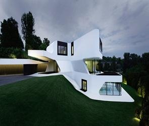 Fachadas contempor neas casa dupli j mayer h for Casas modernas rectangulares