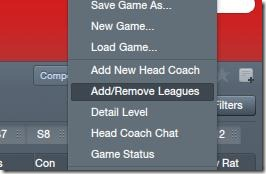Adding and removing leagues in FM 2012