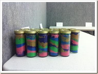 sand art jars