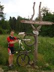 Bacówka nad Wierchomlą, kiedyś był tu przy schronisku fajny stojak rowerowy.