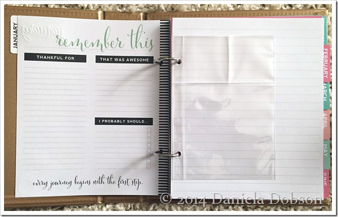Heidi Swapp 2015 Memory Journal Planner inside