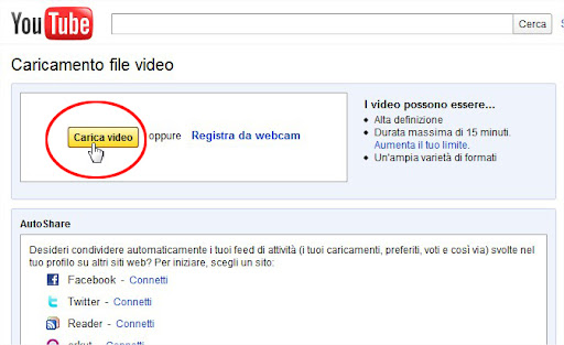 Come caricare video privati su Youtube